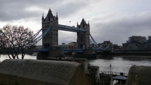 Students visit the Tower Bridge in London, England