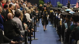 A Student participates in commencement