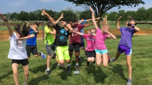 Summer Activities Camp participants dab for a picture