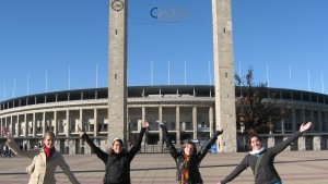 LVC students visit the olympic stadium in Berlin, Germany