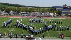 Pride of The Valley performs during halftime of a home football game