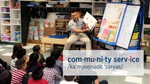 Students from the MITCH (Men Influencing the Community House) read to students at Henry Houck Elementary School in Lebanon in December