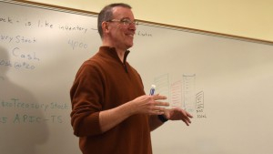 Lebanon Valley College Business Administration Professor Andrew Hildebrand explains treasury stock.