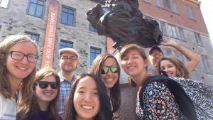 LVC students participate in the GoFirst! program in Quebec City, Canada