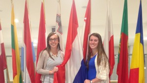 Brittany Fleisher and Caity Stevens visit the European Union