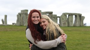 LVC students visit Stonehenge while in England