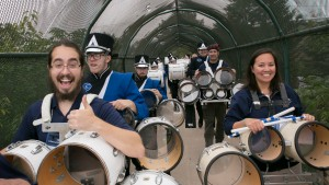 Pride of the Valley drummers get excited for their performance