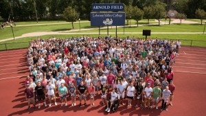 Lebanon Valley College's Class of 2021 group photograph