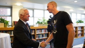 Governor Tom Corbett, an LVC alumnus, visits LVC to share his knowledge and experiences