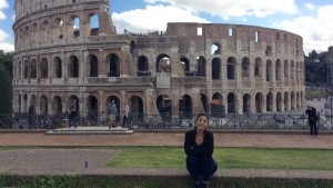 Katt Palacios poses in Rome during a study abroad trip