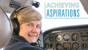 Linda J. Evans '83 competes in cross-country plane races