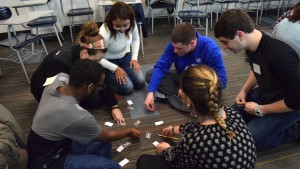 Students work together to complete an activity at the Symposium for Inclusive Excellence