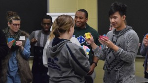 Students participate in a group activity at the Inclusive Excellence symposium