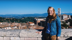 Theresa Messenger studied abroad in Perugia, Italy