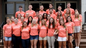 Valley ambassadors pose for a picture in the academic quad at LVC