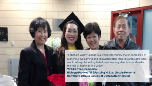 Vickika Than from Cambodia is pursuing M.S. at Lincoln Memorial University-Debusk Collge of Osteopathic Medicine