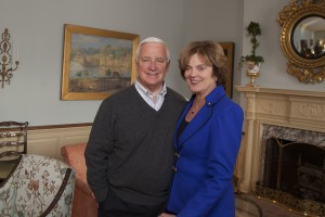 Pennsylvania Governor Tom Corbett and his wife First Lady Susan Corbett