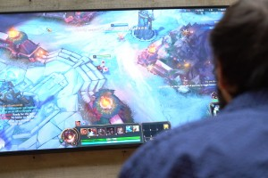 Lebanon Valley College students practice with their new esports video game team.