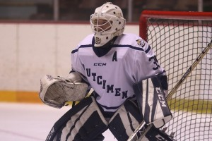 Jill Moffatt is the goalie for the Lebanon Valley College women's ice hockey team.