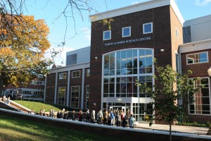 An exterior view of the Neidig-Garber Science Center at Lebanon Valley College