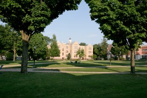 View of Lebanon Valley College campus quad