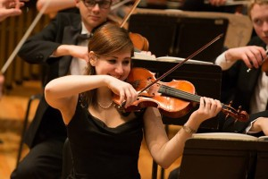 Sarah Marino performs with the Lebanon Valley College orchestra