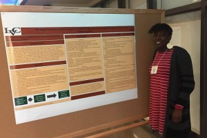 An LVC Sociology student presents her poster at the Pennsylvania Sociological Society conference