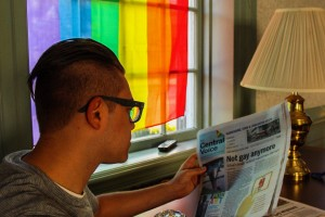 A student spends time at Stonewall House