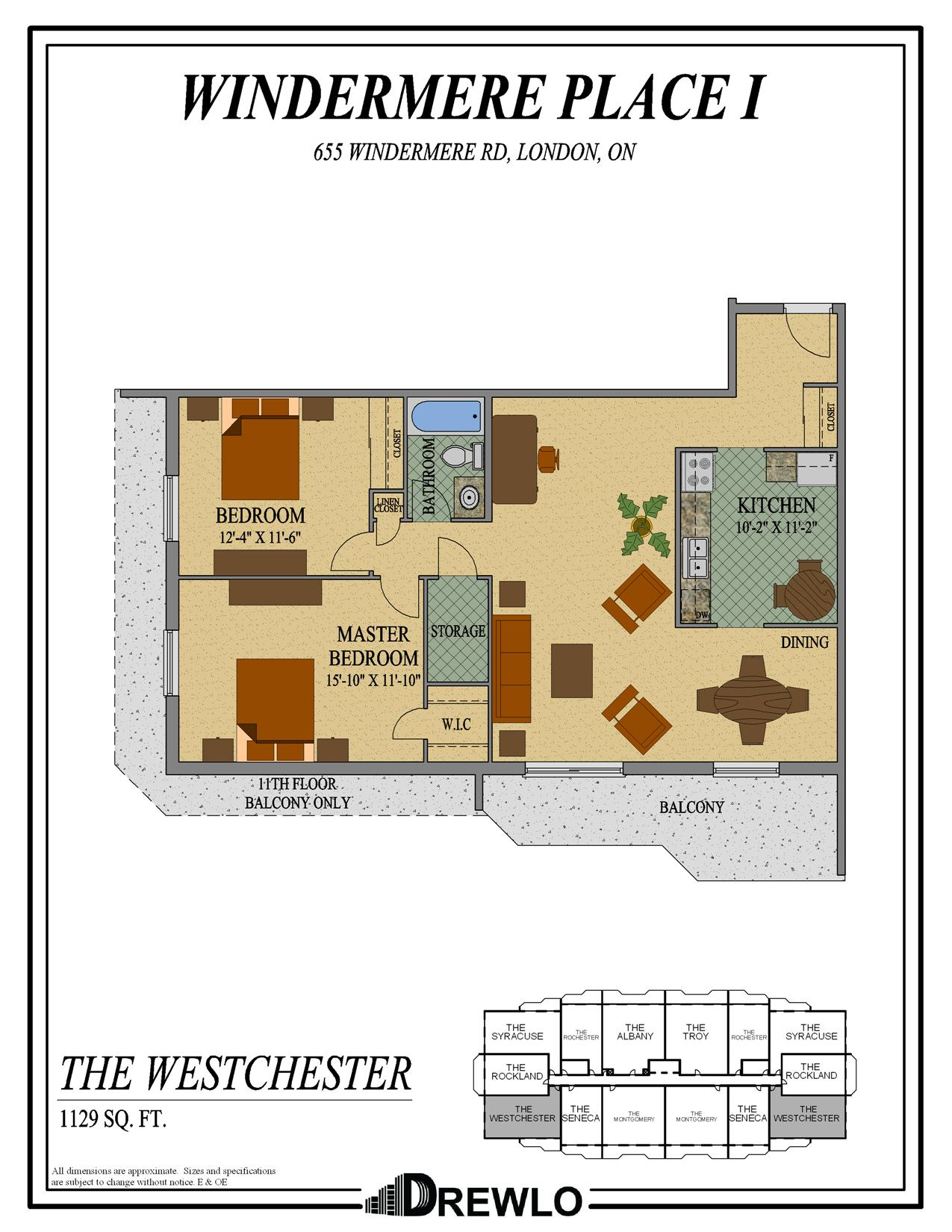 Windermere place drewlo holdings for 1120 westchester place floor plan