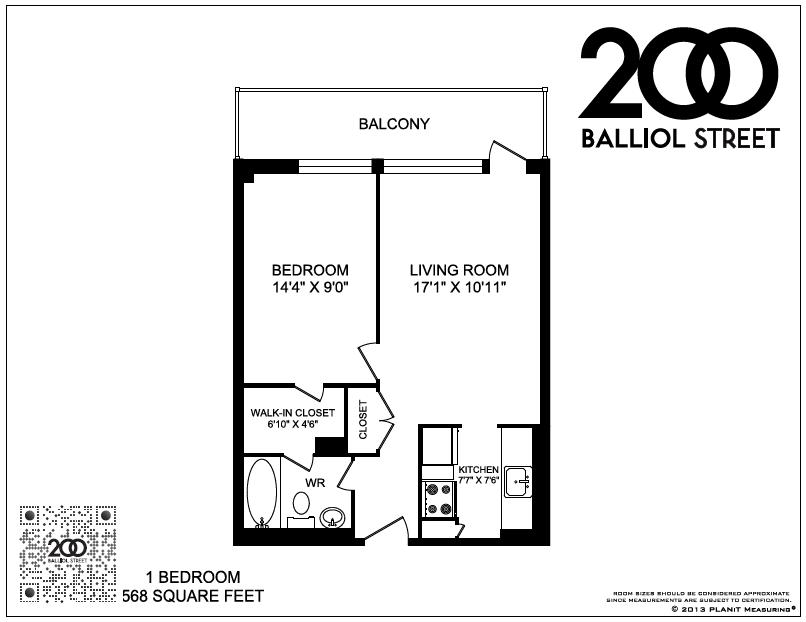 1 Bedroom Available  View FloorplansView Floorplans  200 Balliol St Greenwin. Junior 1 Bedroom