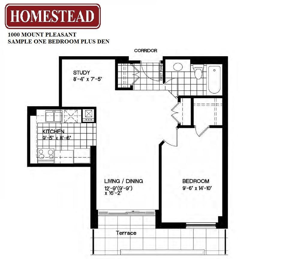 Toronto apartments for rent at yonge eglinton 1000 for Apartment floor plans toronto