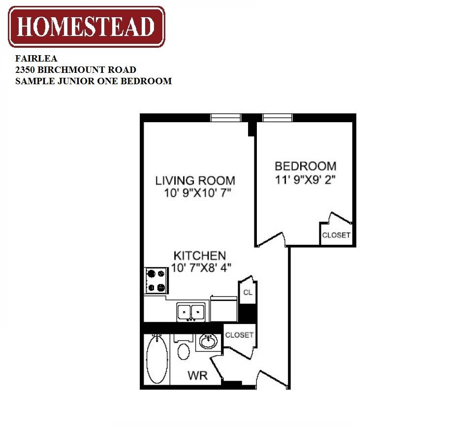 Fairlea homestead for Apartment floor plans toronto