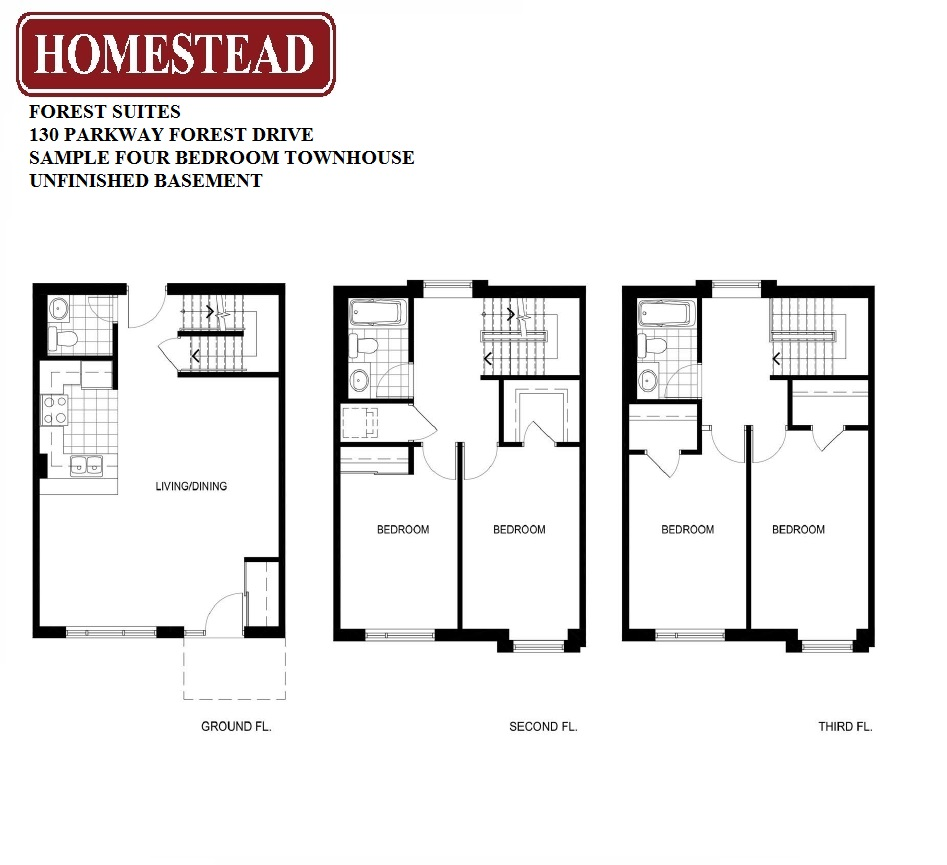 Forest suites homestead for 4 bedroom townhouse floor plans