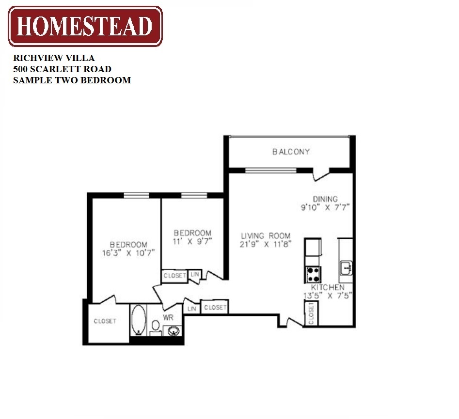 Richview villa homestead for 2 bedroom villa floor plans