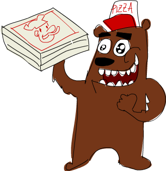 did anyone ORDER pizza?!?! I can't BEAR these puns!