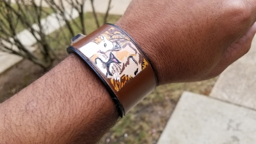 The Lion and The Lamb: Leather Bracelet