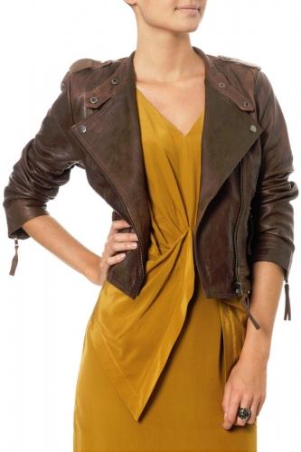 Vero Moda Cognac Leather Jacket