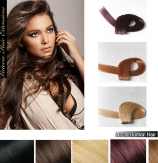 16Inch (40cm) Silky Straight Indian Human Hair Weft Extension ALL COLORS