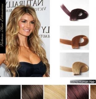 26Inch (65cm) long Silky Straight Indian Human Hair Weft Extension ALL COLOURS