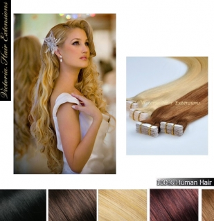 24Inch long(60cm) 4A Grade 100% Remy Human Tape Hair Extensions 100g  MANY COLOURS