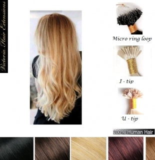"100 Strands - 20"" (50cm) 1g/each  4A grade, Pre Bonded Remy Human Hair Extensions. ALL COLORS"