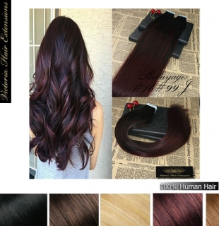 Balayage Tape-in Hair Extensions Colour: #1b#99J