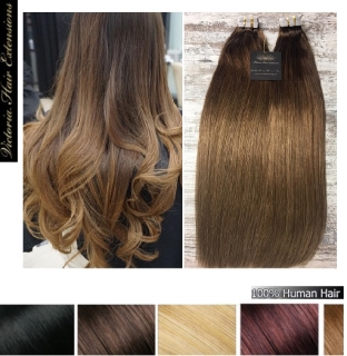 4A Grade 100% Human Remy Tape Hair Extensions 100g Colour:  Balayage #4/6/18