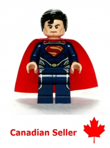 """LEGO Custom Minifigure """"Superman"""" Man of Steel - Marvel DC Comic Superheroes"""