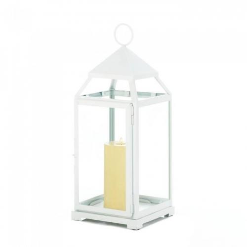 Large White Contemporary Lantern
