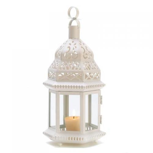 White Moroccan Style Lantern