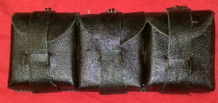 Finnish Three Cell Rubber Ammo Pouch