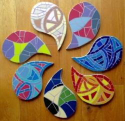 Mosaic design drops - placemats or wall art