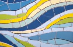 Mosaic retro pattern wall hanging