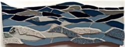 Mosaic seascape wall hanging